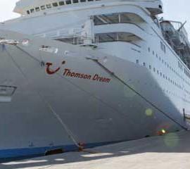 Fotografía del crucero Thomson Dream en su ultima visita a Motril