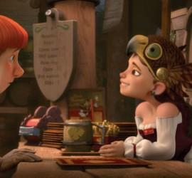 """Imagen de la producción 3D de la pelicula """"Justin y la espada del valor"""" en la que aparecen dos de sus protagonistas"""