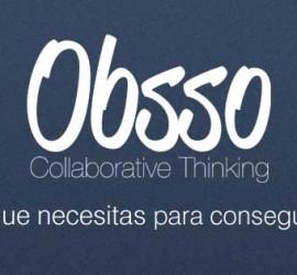 se muestra una ilustración con el logotipo y eslogan de la app Obsso