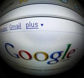 Fotografía con un objetivo de ojo de pez de la página de inicio de Google