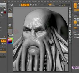 Imagen del programa Blender para crear la escultura digital en 3D