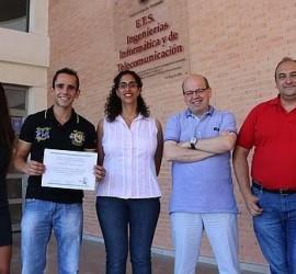 Componentes del equipo de la Universidad de Granada ganadores del concurso internacional de Big data