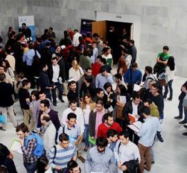 Asistentes en la Cámara de Comercio de Granada a una de las jornadas de contratación de empresas tecnológicas organizada por onGranada