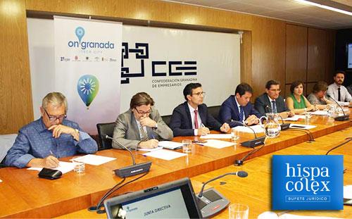 Junta directiva de OnGranada Tech City para financiación de 7 proyectos TIC de Granada