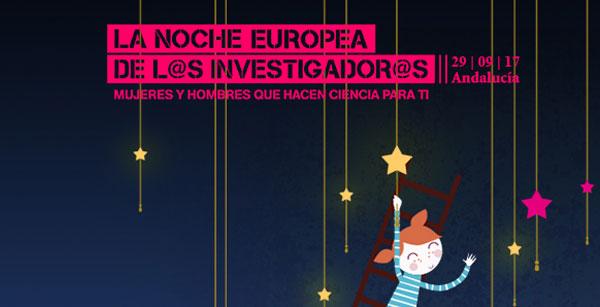 Cartel oficial de la secta edición de la Noche Europea de los Investigadores de Granada