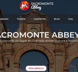 Imagen de cabecera de la nueva web de la Abadía del Sacromonte de Granada